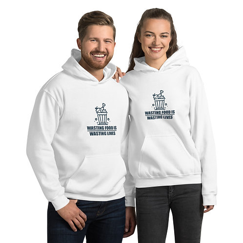 Wasting Food is wasting lives Hoodie - Zero Waste collection 05