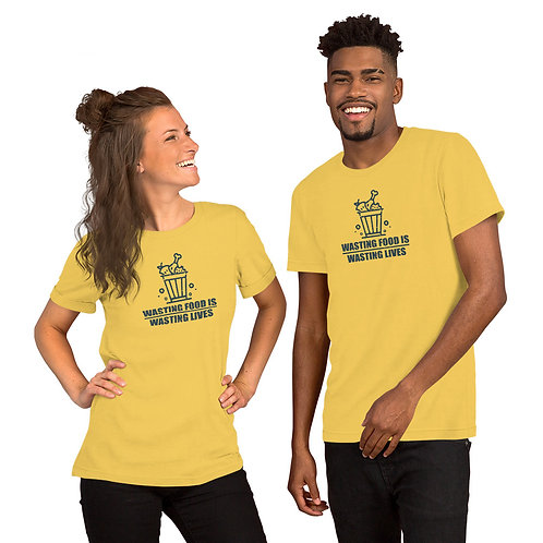 Wasting Food is wasting lives Tshirt - Zero Waste collection 05