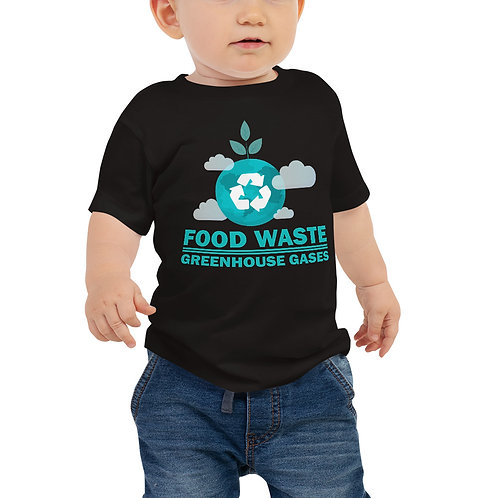 Food waste = Greenhouse gases Baby tshirt - Zero Waste collection 03