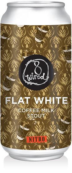 8 Wired FLAT WHITE NITRO COFFEE MILK STOUT 5.5% 24 x 440ml CANS