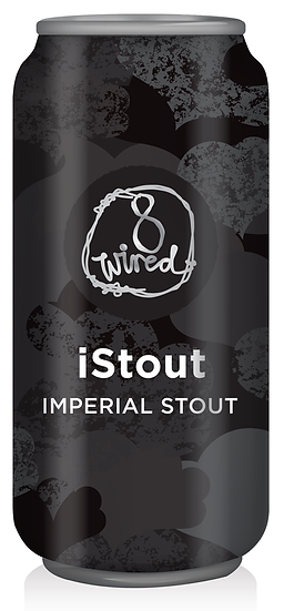 "8 Wired ""i Stout"" Imperial Stout 10.0% 24 x 440ml CANS"