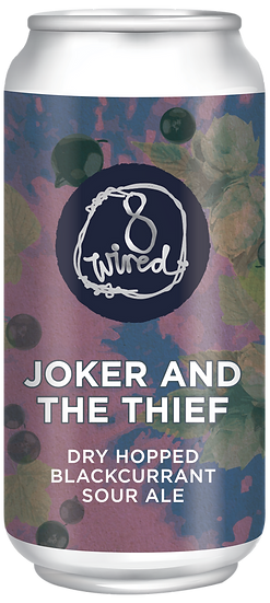 8 Wired JOKER & the THIEF Dry Hopped Blackcurrant Sour 6% 24 x 440ml CANS