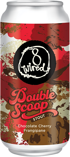 8 Wired Double Scoop CHOC CHERRY & FRANGIPANE STOUT 7.0% 24 x 440ml CANS