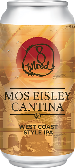 8 Wired MOS EISLEY CANTINA WEST COAST IPA 7.2% 24 x 440ml CANS