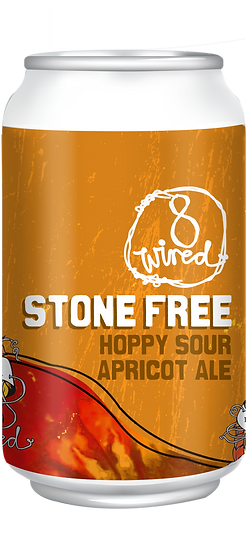 8 Wired STONE FREE Apricot Sour Ale 4.4% 24 x 330ml CANS