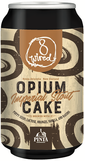 8 Wired OPIUM CAKE IMPERIAL STOUT 11.5%  24 x 330ml CANS