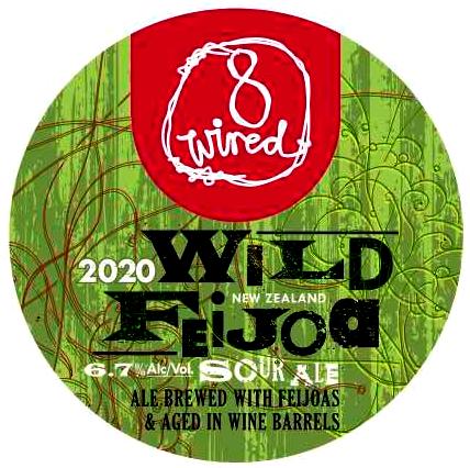 """2020 Vintage """"Wild Feijoa"""" Barrel aged Feijoa Sour 6.7%"""