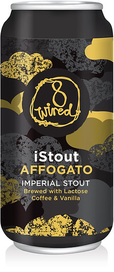 """8 Wired """"i Stout Affogato"""" Imperial Stout with Coffee & Vanilla 10.0% 12 x 440ml"""