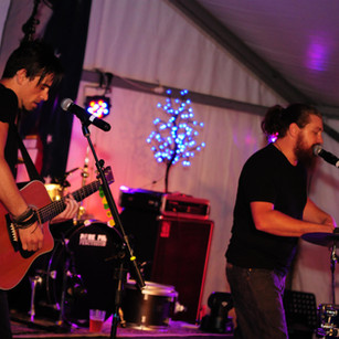 Crafty on guitar performing alongside Benny G in the 'Swap Team' - Gawler Fringe Event 2016
