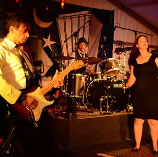 Crafty on guitar performing in 10-piece band All SOUL'd Out - Gawler Fringe Event 2016