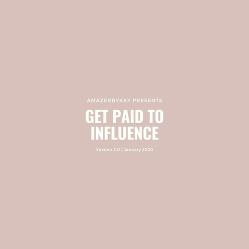 Get Paid To Influence 2.0 Package