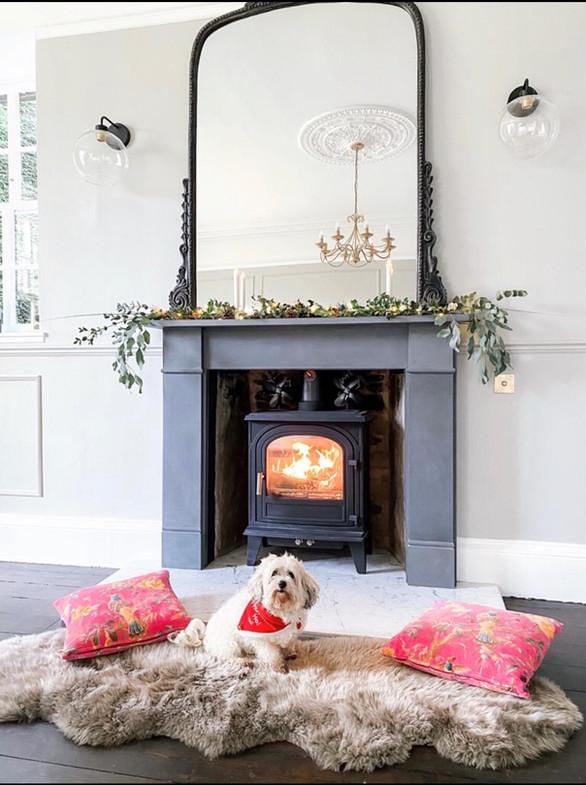 Fireplace - Panelled Walls