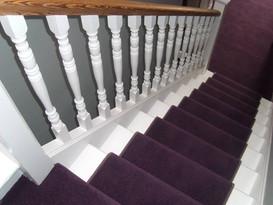 Staircase Painting - Purple Runner