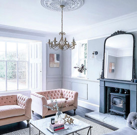 Victorian Lounge with Fireplace & Bay Wo