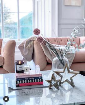 Grey & Pink Living Room