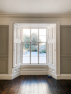 Bay Window - Panelled Walls