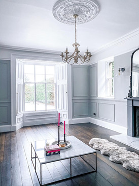 Living Room - Panelled Walls