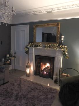 Xmas Painted Fireplace