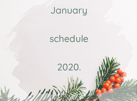 1月の鑑定スケジュール