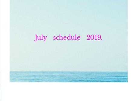 7月鑑定スケジュール