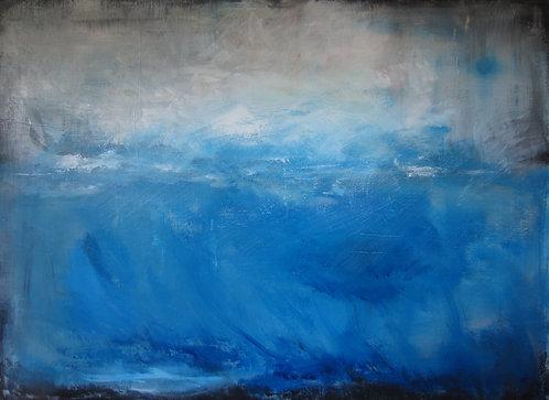 "Who Stills the Roaring Seas (34x46"")"