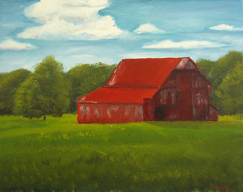 "Farm and Few Between (14x18"")"