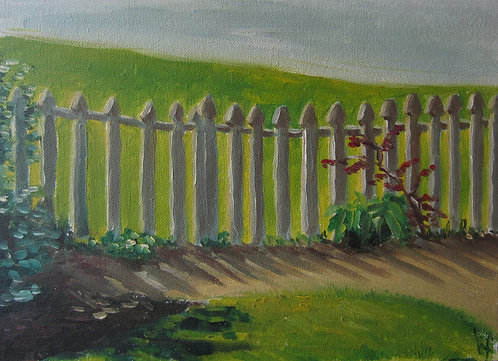 "Fenced In (9x12"")"