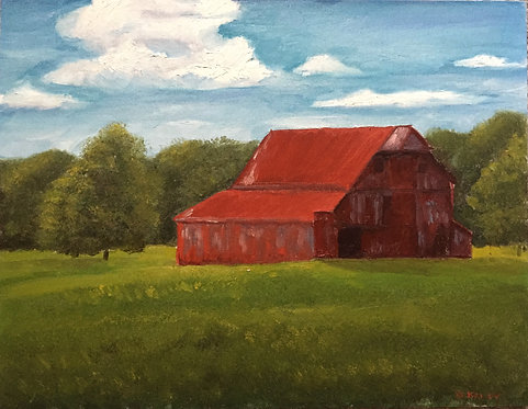 "Farm and Few Between (14x18"")"
