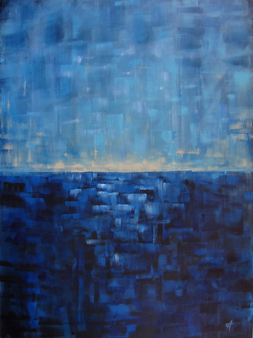"""An Insecure Horizon (30x40"""")"""