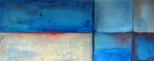 """Meeting in the Aisle (20x48"""")"""