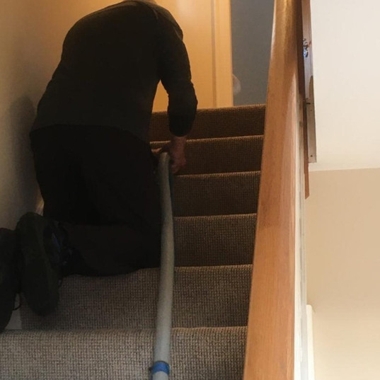 Cleaning Stairs