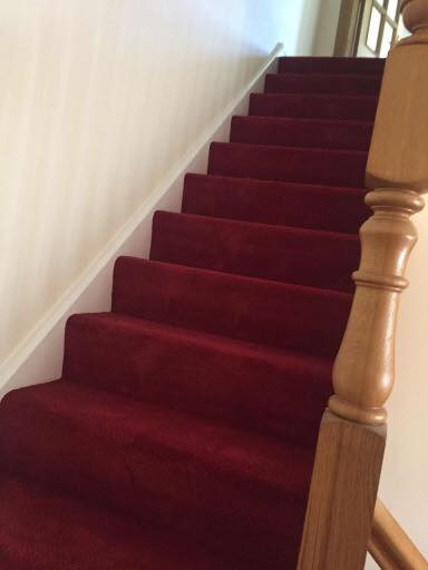 Cleaned Stair Carpet
