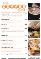The Coffee Shop - Breakfast Menu