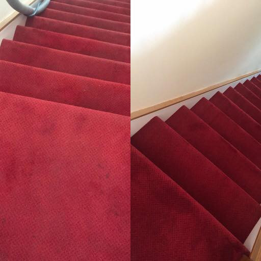 Stair Carpet Before & After