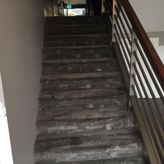 Badly Stained Stair Carpet Deep Clean