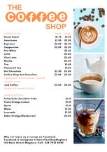 The Coffee Shop - Drinks Menu