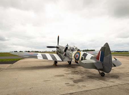 Chocks away! A ride in a Spitfire!