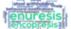 Encopresis, enuresis, accidents,stool withholding, treatment