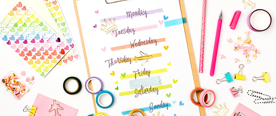 Weekly planner for ADHD