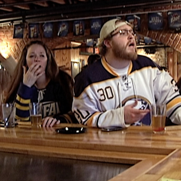 Sabres fans react to a missed opportunity in a make-or-break game at Pearl Street Grill & Brewery.