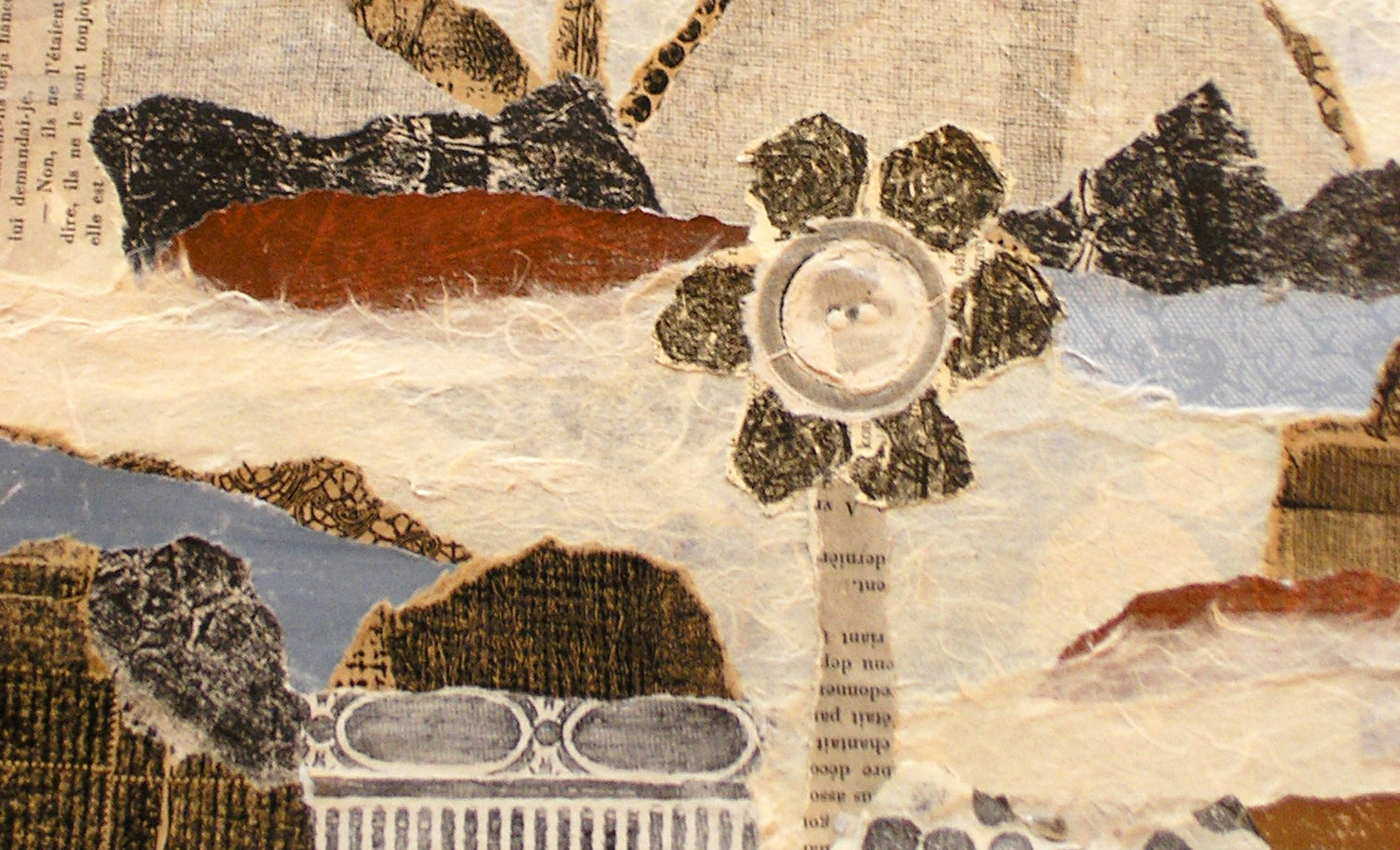 detail - collage & print landscape