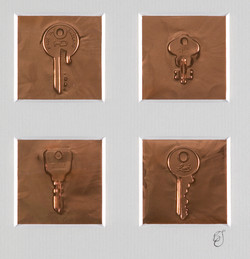 impressions (keys) - copper foil