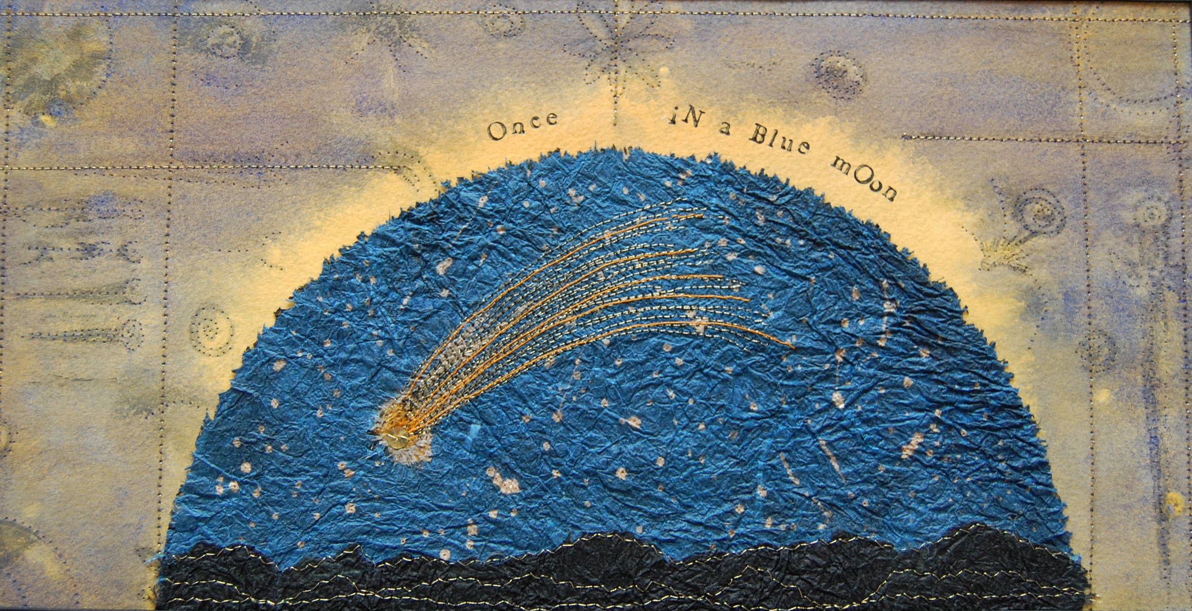 once in a blue moon - collage