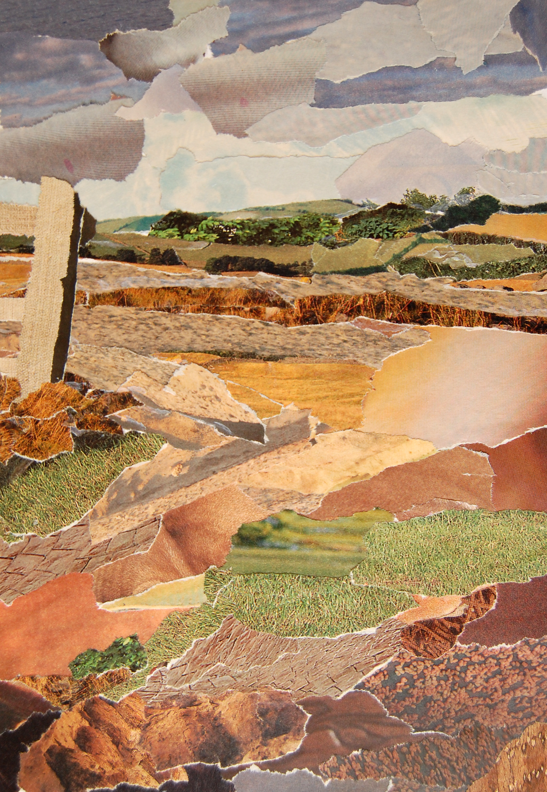 collage landscape Wolvey