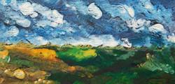 landscape monoprint