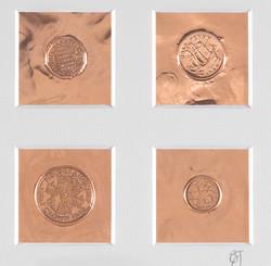 impressions (coins) copper foil