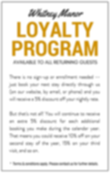 Whitney Manor loyalty program