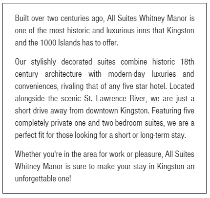 Description of All Suites Whitney Manor