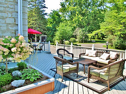 Private Patio Area at All Suites Whitney Manor