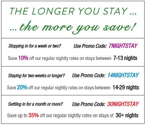 Long-term stay discounts